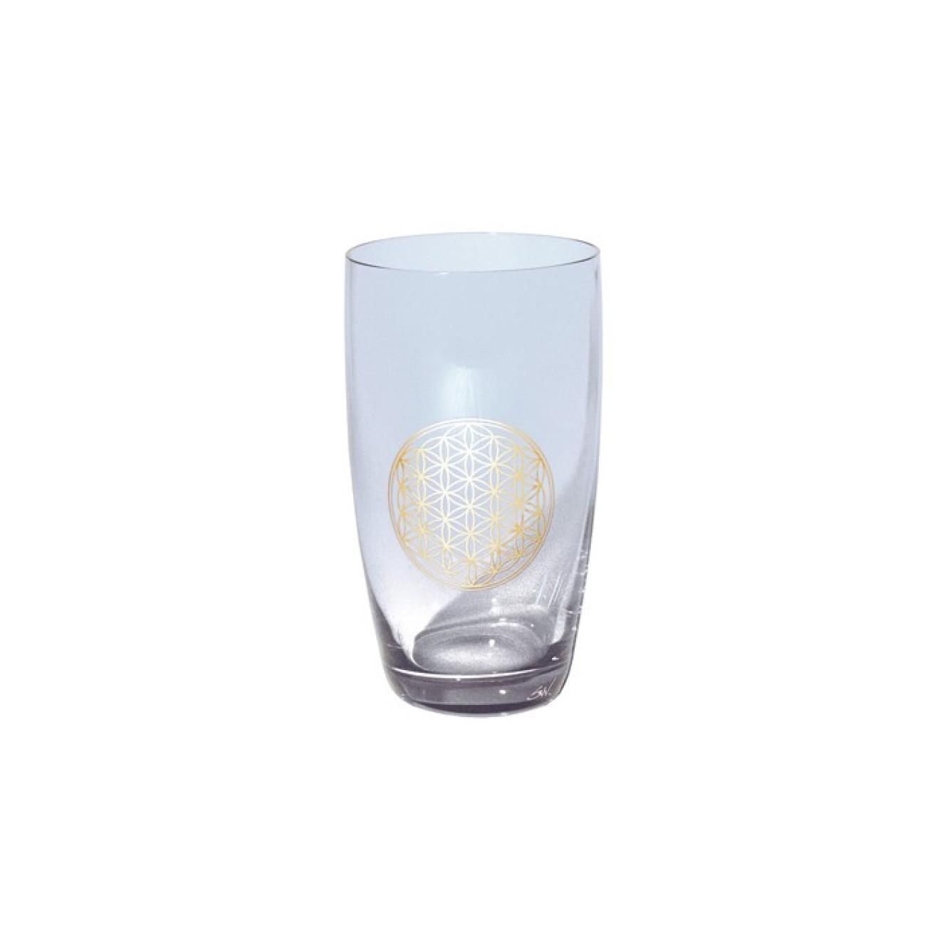 glas mit blume des lebens 24k 0 2 l energie und leben innovative gesundheit feetup. Black Bedroom Furniture Sets. Home Design Ideas
