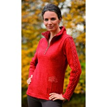 Spirit of OM Damen Walk-Pullover Schnurwolle